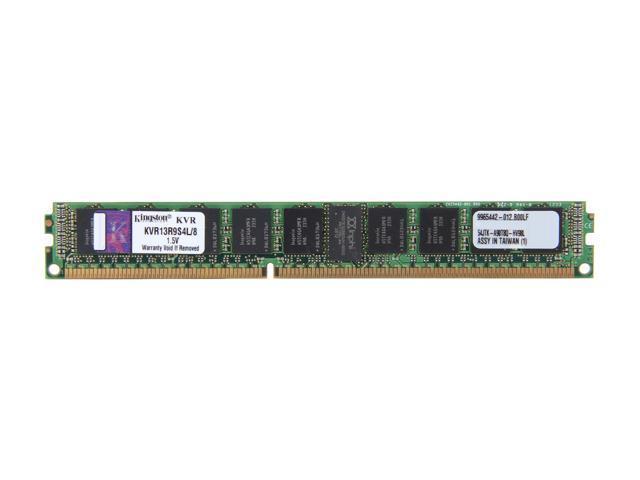 Kingston 8GB 240-Pin DDR3 SDRAM ECC Registered DDR3 1333 Server Memory SR x4 w/TS VLP Model KVR13R9S4L/8