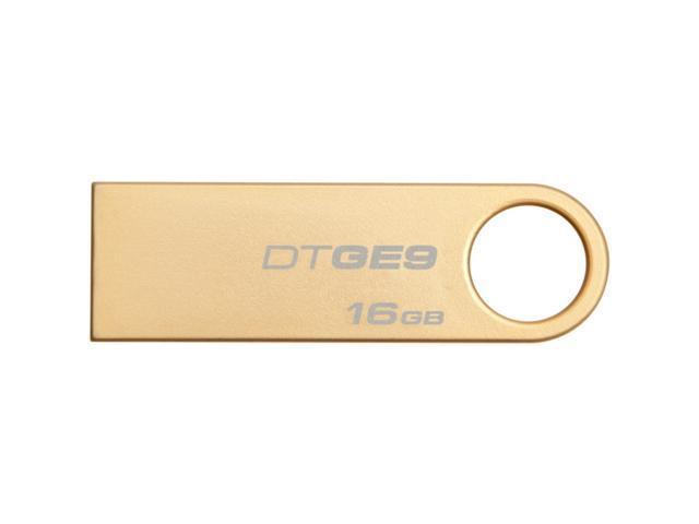 Kingston DataTraveler GE9 16 GB USB 2.0 Flash Drive - Gold - 1 Pack