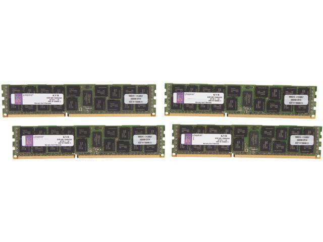 Kingston ValueRAM 64GB (4 x 16GB) 240-Pin DDR3 SDRAM ECC Registered DDR3 1600 Server Memory (Intel Validated) Model KVR16R11D4K4/64I