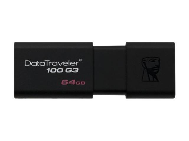 Kingston 64GB DataTraveler 100 G3 USB 3.0 Flash Drive (DT100G3/64GB)