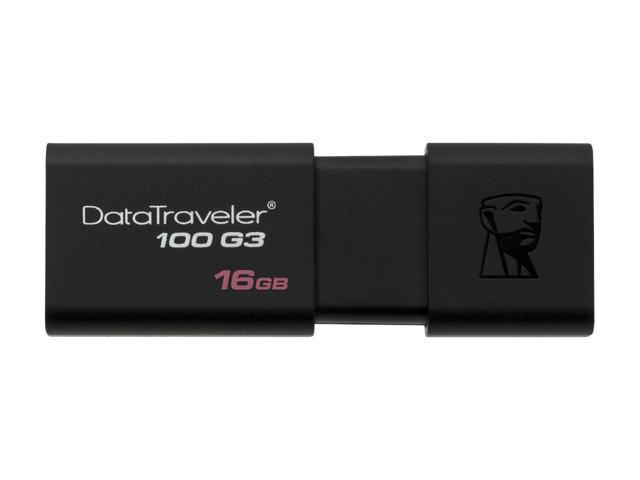Kingston 16GB DataTraveler 100 G3 USB 3.0 Flash Drive (DT100G3/16GB)