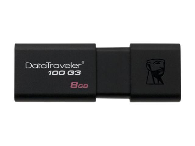 Kingston 8GB DataTraveler 100 G3 USB 3.0 Flash Drive (DT100G3/8GB)