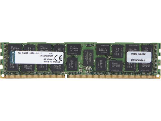 Kingston 16GB 240-Pin DDR3 SDRAM ECC Registered DDR3 1333 Server Memory (Server Hynix A) Model KVR13LR9D4/16HA