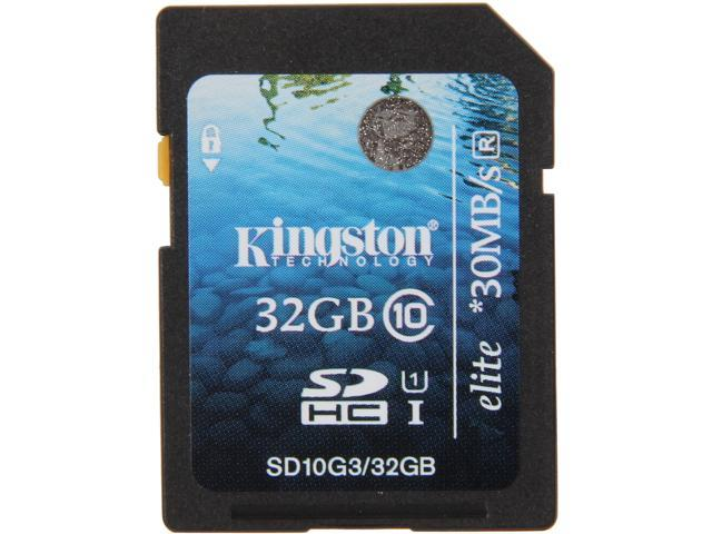 Kingston Elite 32GB Secure Digital High-Capacity (SDHC) Flash Card Model SD10G3/32GB 740617217452