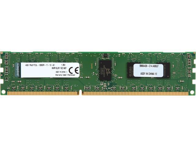 Kingston 4GB 240-Pin DDR3 SDRAM ECC Registered DDR3 1600 (PC3 12800) Server Memory Model KVR16LR11S8/4EF