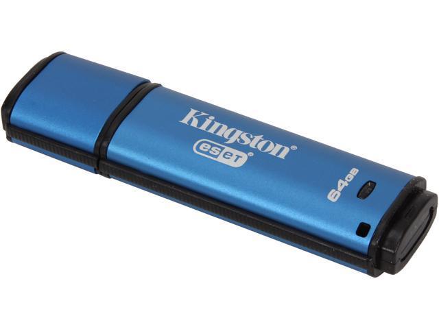 Kingston DataTraveler Vault Privacy 3.0 64GB Anti-Virus USB 3.0 Flash Drive 256bit AES Encryption Model DTVP30AV/64GB