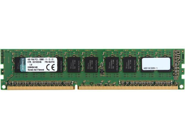 Kingston 4GB 240-Pin DDR3 SDRAM ECC DDR3 1600 (PC3 12800) Single Rank Server Memory Model KTM-SX316ES/4G