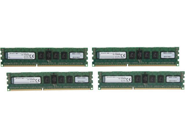 Kingston 32GB (4 x 8GB) 240-Pin DDR3 SDRAM ECC Registered DDR3 1600 (PC3 12800) Server Memory Model KTD-PE316SK4/32G
