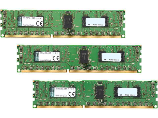 Kingston 12GB (3 x 4GB) 240-Pin DDR3 SDRAM ECC Registered DDR3 1600 (PC3 12800) Server Memory Model KVR16LR11S8K3/12I