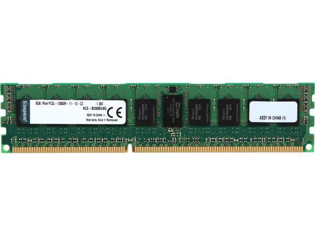 Kingston 8GB 240-Pin DDR3 SDRAM DDR3 1600 (PC3 12800) ECC Registered System Specific Memory Model KCS-B200BS/8G