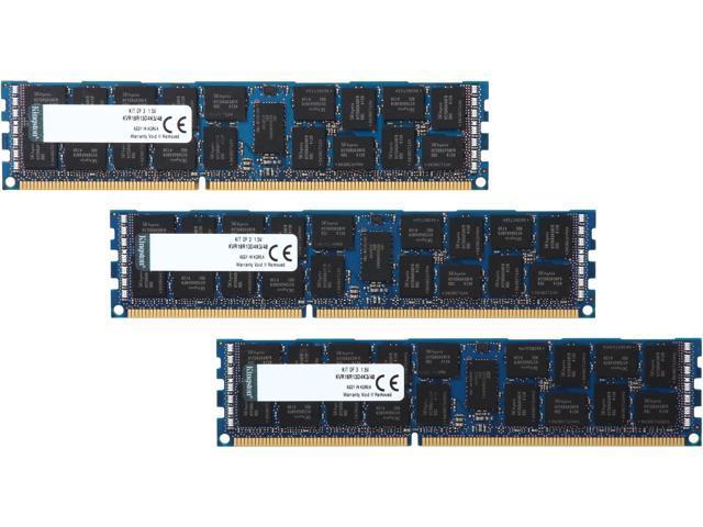 Kingston 48GB (3 x 16GB) 240-Pin DDR3 SDRAM ECC Registered DDR3 1866 Server Memory Model KVR18R13D4K3/48