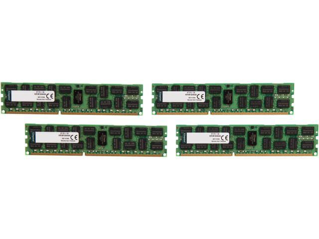 Kingston 64GB (4 x 16GB) 240-Pin DDR3 SDRAM ECC Registered DDR3 1866 Server Memory Model KVR18R13D4K4/64