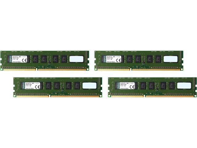 Kingston 32GB (4 x 8GB) 240-Pin DDR3 SDRAM ECC DDR3 1600 (PC3 12800) Server Memory Model KVR16LE11K4/32