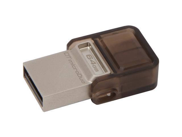 Kingston 64GB DataTraveler microDuo USB 2.0 On-The-Go Flash Drive