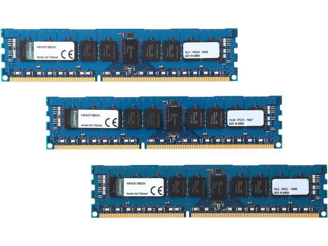 Kingston 24GB (3 x 8GB) 240-Pin DDR3 SDRAM ECC Registered DDR3 1600 (PC3 12800) Server Memory Model KVR16LR11D8K3/24