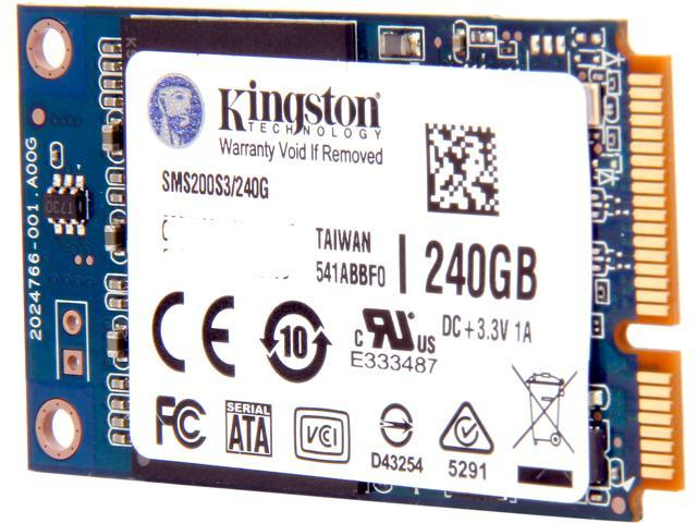 Kingston SSDNow mS200 mSATA 240GB SATA 6Gb/s Internal Solid State Drive (SSD) SMS200S3/240G