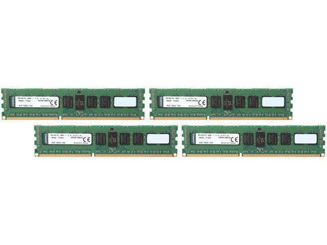 Kingston 32GB (4 x 8GB) 240-Pin DDR3 SDRAM ECC Registered DDR3 1600 (PC3 12800) Server Memory Model KVR16R11D8K4/32I