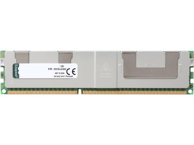 Kingston 32GB 240-Pin DDR3 SDRAM DDR3 1600 (PC3 12800) Quad Rank Low Voltage System Specific MemoryModel KTM-SX316LLQ/32G