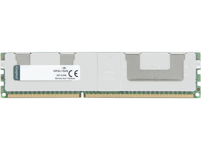 Kingston 32GB 240-Pin DDR3 SDRAM ECC DDR3 1600 (PC3 12800) Server Memory Model KVR16LL11Q4/32
