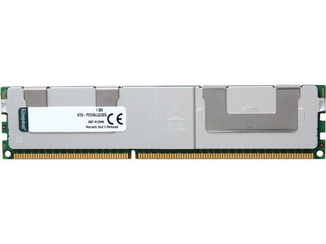 Kingston 32GB 240-Pin DDR3 SDRAM DDR3 1600 (PC3 12800) Server Memory Model KTD-PE316LLQ/32G