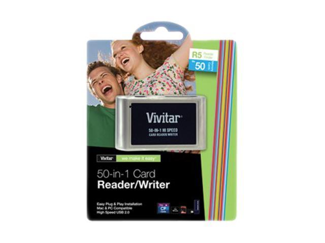 Vivitar VIV-RW-50 50-in-1 USB 2.0 Card Reader/Writer