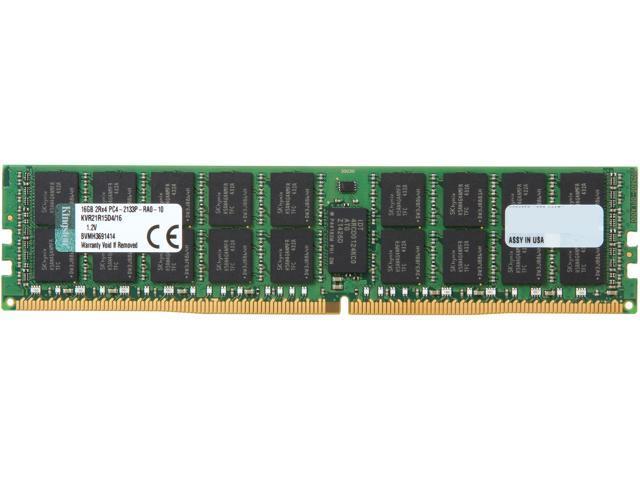 Kingston 16GB 288-Pin DDR4 SDRAM ECC Registered DDR4 2133 (PC4-17000) Server Memory Model KVR21R15D4/16