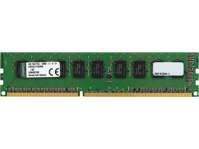 Kingston 4GB 240-Pin DDR3 SDRAM ECC Unbuffered DDR3 1600 (PC3 12800) Server Memory SR x8 w/TS Hynix B Model KVR16LE11S8/4HB