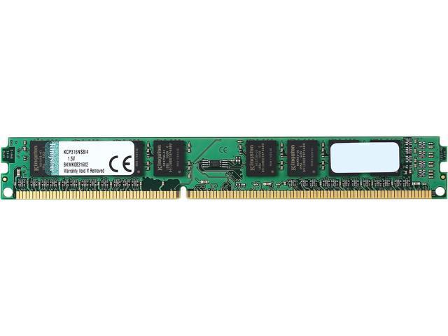 Kingston 4GB 240-Pin DDR3 SDRAM DDR3 1600 (PC3 12800) Desktop Memory Model KCP316NS8/4
