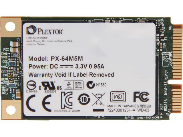 Plextor M5M mSATA 64GB Mini-SATA (mSATA) MLC Internal Solid State Drive (SSD) PX-64M5M