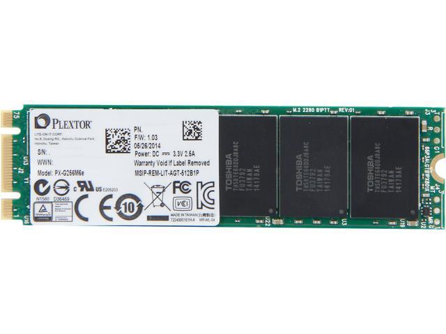 Plextor M6e M.2 2280 256GB PCI-Express 2.0 x2 Internal Solid State Drive (SSD) PX-G256M6eA