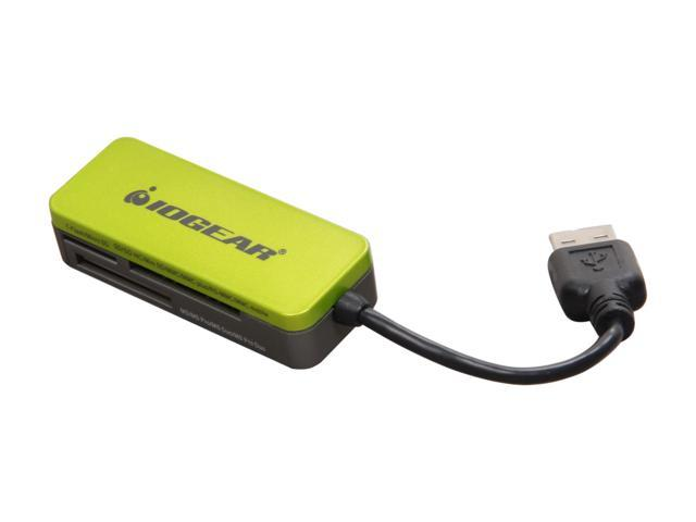 IOGEAR GFR209W6 USB 2.0 Support SD, SDHC, microSD, microSDHC, Mini SD, MMC, Memory Stick, and MS Duo, 12-in-1  FlashCard Reader/ Writer