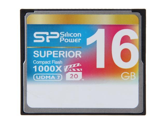 Silicon Power Superior 16GB Compact Flash (CF) Flash Card Model SP016GBCFC1K0V10