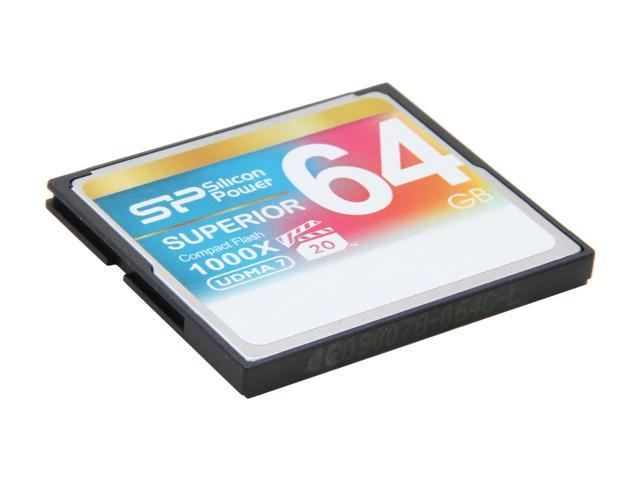 Silicon Power Superior 64GB Compact Flash (CF) Flash Card Model SP064GBCFC1K0V10