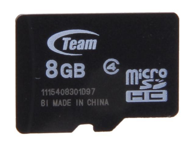 Team 8GB microSDHC Flash Card (Card Only) Model TG008G0MC24X
