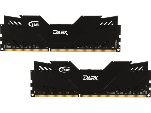 Team Dark Series 16GB (2 x 8GB) 240-Pin DDR3 SDRAM DDR3 1600 (PC3 12800) Desktop Memory Model TDD316G1600HC9DC01