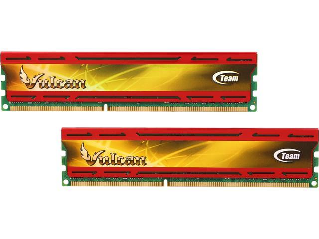 Team Vulcan 8GB (2 x 4GB) 240-Pin DDR3 SDRAM DDR3 1600 (PC3 12800) Desktop Memory Model TLD38G1600HC9DC01