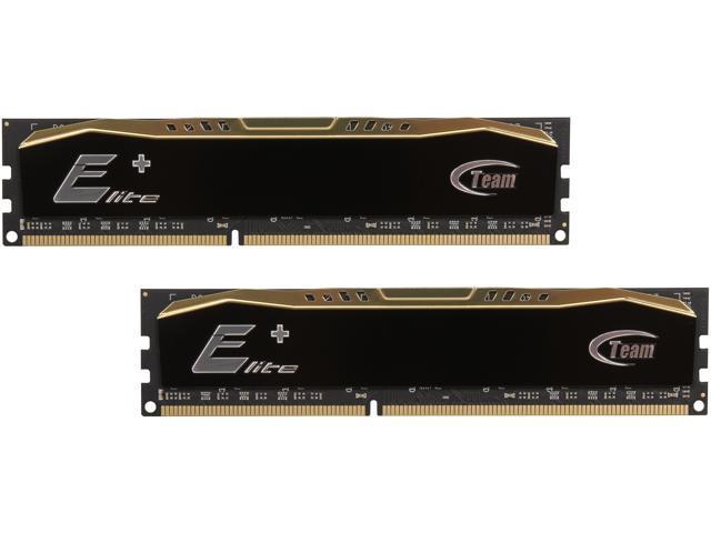 Team Elite Plus 8GB (2 x 4GB) 240-Pin DDR3 SDRAM DDR3 1600 (PC3 12800) Desktop Memory Model TPD38G1600C11DC01