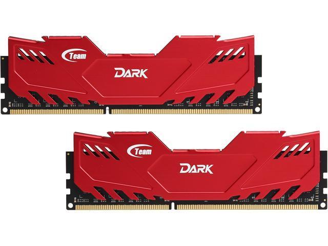 Team Dark 16GB (2 x 8GB) 240-Pin DDR3 SDRAM DDR3 2400 (PC3 19200) Desktop Memory Model TDRED316G2400HC11CDC01