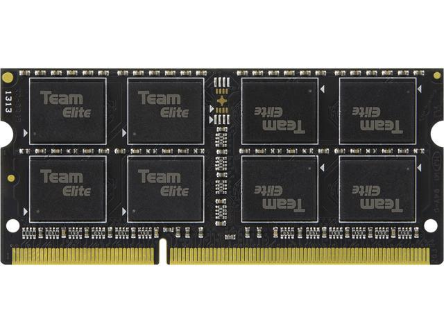 Team Elite 8GB 204-Pin DDR3 SO-DIMM DDR3 1600 (PC3 12800) Memory (Notebook Memory) Model TED3L8G1600C11-S01