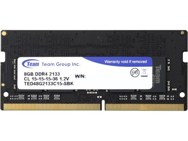 Team Elite 8GB 260-Pin DDR4 SO-DIMM DDR4 2133 (PC4 17000) Laptop Memory Model TED48G2133C15-S01