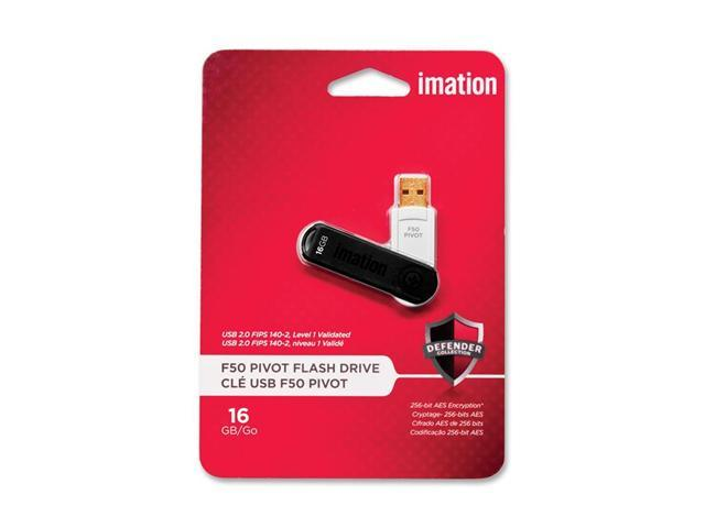Imation Pivot 16GB USB 2.0 Pivot Flash Drive 256bit AES Encryption Model 27126