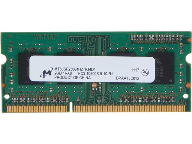 Micron 2GB 204-Pin DDR3 SO-DIMM DDR3 1333 (PC3 10600) Laptop Memory Model MT8JSF25664HZ-1G4D1
