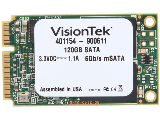 VisionTek mSATA 120GB SATA III Internal Solid State Drive (SSD) 900611