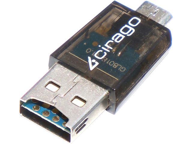 Cirago OTGSDCARDRDR Micro USB (OTG) Micro USB to Micro SD Card Reader
