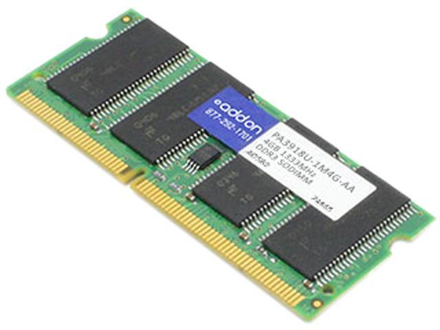 AddOn - Memory Upgrades 4GB 204-Pin DDR3 SO-DIMM DDR3 1333 (PC3 10600) Unbuffered Dual Rank Laptop Memory Model PA3918U-1M4G-AA