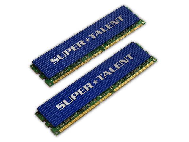 SUPER TALENT 2GB (2 x 1GB) 240-Pin DDR2 SDRAM DDR2 800 (PC2 6400) Dual Channel Kit Desktop Memory Model T800UX2GC4