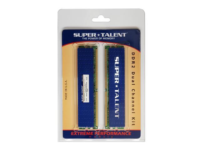 SUPER TALENT 2GB (2 x 1GB) 240-Pin DDR2 SDRAM DDR2 800 (PC2 6400) Dual Channel Kit Desktop Memory Model T800UX2GC4