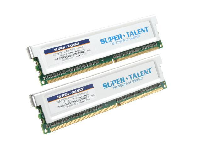 SUPER TALENT 2GB (2 x 1GB) 184-Pin DDR SDRAM DDR 400 (PC 3200) Dual Channel Kit Desktop Memory Model X32PB2GC