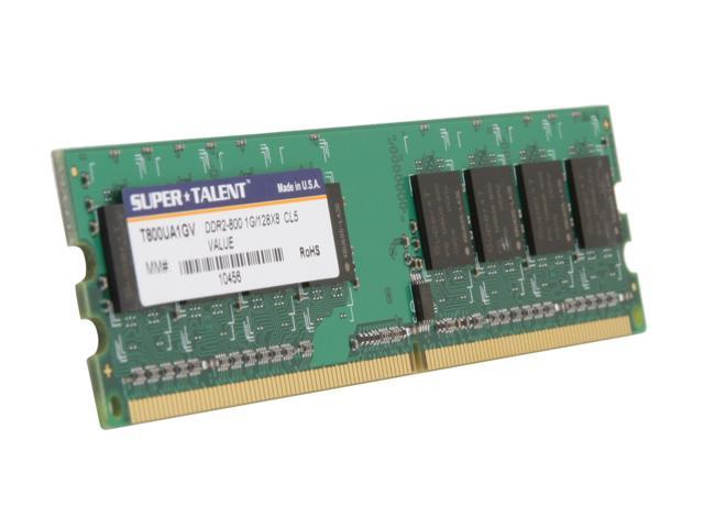 SUPER TALENT 1GB 240-Pin DDR2 SDRAM DDR2 800 (PC2 6400) Desktop Memory Model T800UA1GV