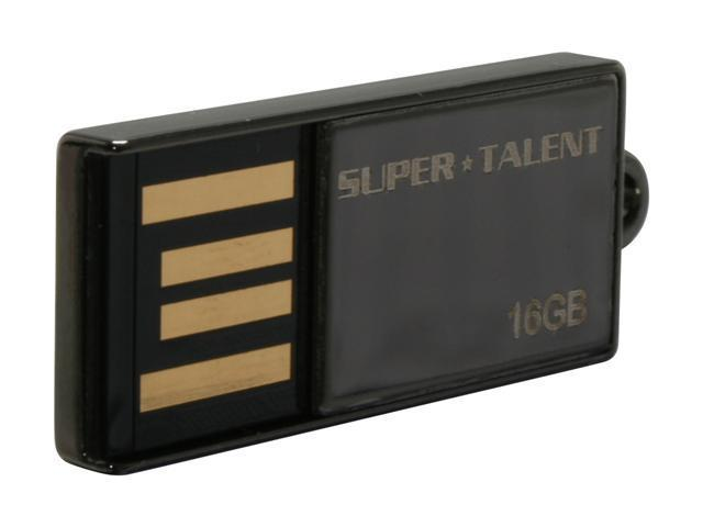 SUPER TALENT PICO-C 16GB Flash Drive (USB2.0 Portable) Model STU16GPCN